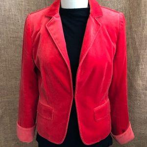 J Crew 100% cotton velvet ECOLE jacket-2